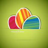 Vector green Paper easter egg card Royalty Free Stock Photos