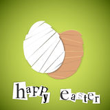 Vector green Paper easter egg card Royalty Free Stock Photography