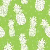 Vector green pineapples summer colorful tropical seamless pattern background. Great as a textile print, party invitation Royalty Free Stock Image
