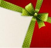 Vector green polka dots bow Stock Image