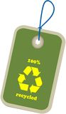 VECTOR GREEN RECYCLED LABEL Royalty Free Stock Images