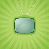 Vector green retro tv Royalty Free Stock Images