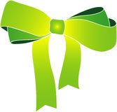 Vector of green ribbon Royalty Free Stock Photos