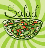 Vector Green Salad Royalty Free Stock Photography