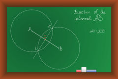 Vector green school  Blackboard Stock Photo
