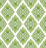 Vector. Green seamless pattern Stock Photography