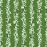 Vector green seamless pattern with fern leaves vertical stripes. Suitable for textile, gift wrap and wallpaper stock illustration