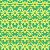 Vector green seamless texture with flowers Stock Photography