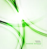Vector green shadow wave abstract background Royalty Free Stock Images