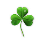 Vector green shamrock on a white background element for design Stock Photos