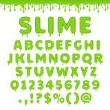 Vector green slime alphabet Royalty Free Stock Photography