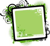 Vector Green Swirl Frame Royalty Free Stock Photo
