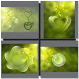 Vector green tea sign symbol Stock Photo