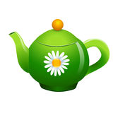 Vector green teapot Royalty Free Stock Images