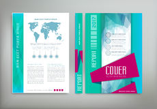 Vector green template: cover, flyer, brochure, book, report busi Stock Images