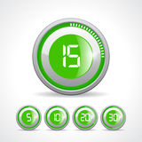 Vector green timer Royalty Free Stock Image