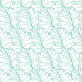 Vector Green Tropical Leaves Texture Seamless Stock Photography