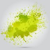 Vector green vintage watercolor texture with blots Royalty Free Stock Photo