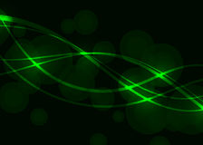 Vector green wave background. Vector green wave circle background Royalty Free Stock Image