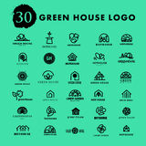 Vector greenhouse logo templates. Stock Photography