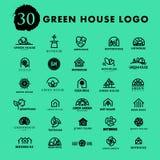 Vector greenhouse logo templates. Stock Photography