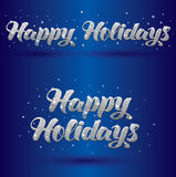 Vector greeteing sign Happy Holidays Royalty Free Stock Images