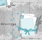 Vector, greeting background with beads Stock Photos