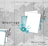 Vector, greeting background with flowers Stock Photography