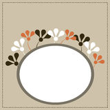 Vector greeting card. Illustration of a floral greeting card or invitation.EPS file available Royalty Free Stock Image