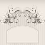 Vector greeting card. Vector template frame design for greeting card Royalty Free Stock Photography