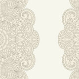 Vector greeting card. Vector illustration greeting card with floral pattern Royalty Free Stock Images