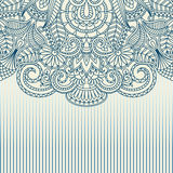 Vector greeting card. Vector illustration with vintage pattern for print Stock Photography