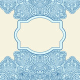 Vector greeting card. Vector illustration with vintage pattern for invitation card Royalty Free Stock Photos