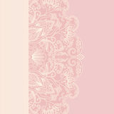 Vector greeting card. Vector illustration greeting card with floral pattern Stock Images