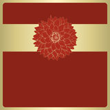 Vector greeting card. Vector illustration greeting card with dahlia flower Royalty Free Stock Photo