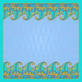 Vector greeting card. Vector illustration with vintage pattern for greeting card Royalty Free Stock Photos