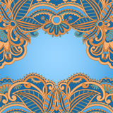 Vector greeting card. Vector illustration with vintage pattern for greeting card Royalty Free Stock Image