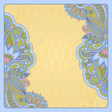 Vector greeting card. Vector illustration with vintage pattern for greeting card Stock Image