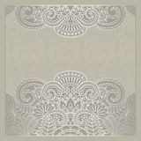 Vector greeting card. Vector illustration with vintage pattern for greeting card Stock Photos