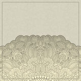 Vector greeting card. Vector illustration with vintage pattern for greeting card Stock Photo