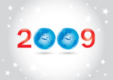 Vector Greeting Card. Happy 2009 New Year Vector Greeting Card Stock Photography