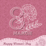 Vector greeting card or banner for 8 march. Happy Women`s Day Royalty Free Stock Images