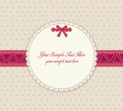 Vector greeting card on a beige background Royalty Free Stock Photography
