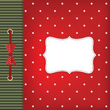 Vector greeting card with bow Stock Photo