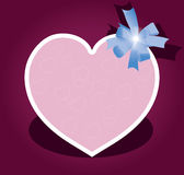 Vector greeting card with bow. For valentine day Stock Photos
