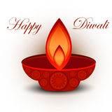Vector greeting card colorful happy diwali Stock Photography