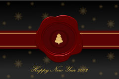 Vector greeting card dedicated to new year Royalty Free Stock Photo
