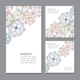 Vector greeting card design. Ornamental invitation template.  Vi Stock Photo