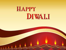 Vector greeting card for diwali. Happy diwali greeting card with collection of diyas, for indian festival diwali