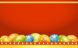 Vector greeting card for Easter with Easter eggs Royalty Free Stock Photography